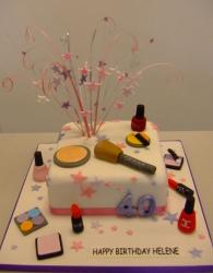 Make-up and cosmetics birthday cake.JPG