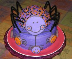 Purple spider halloween cake photo.JPG