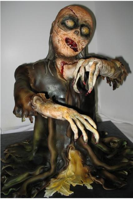 Scary Halloween Zombie Cake Jpg 2 Comments
