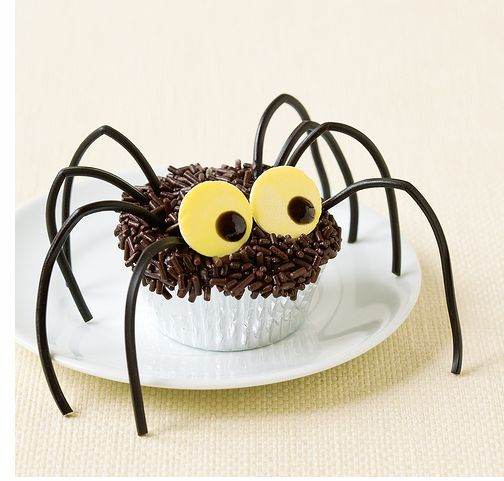 Image of Spider cupcake halloween party