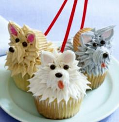 Trio of Cute Dog-Face Cupcakes.JPG