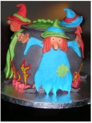 Witch halloween cake in colors.JPG