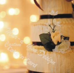 Golden Wedding Cake with lights
