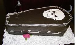 Chocolate coffin halloween cake photos.JPG