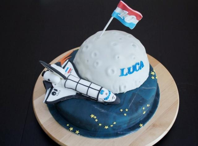 Space Shuttle Exploration Theme Birthday Cake For 10 Year Old Boy