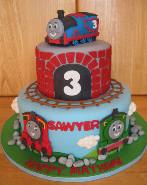 Thomas The Train Cake Picture Png