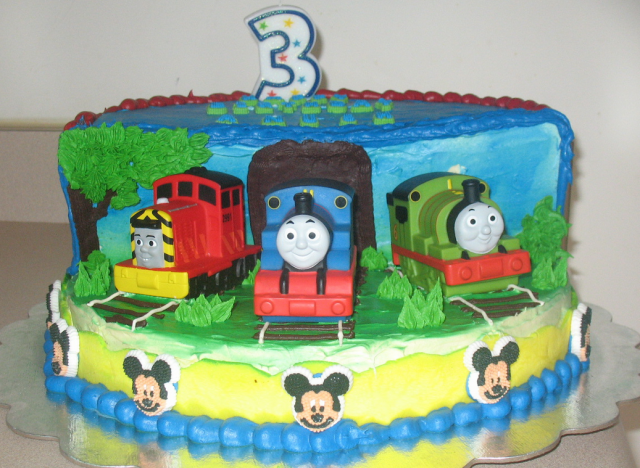 Thomas The Train Birthday Cakes Picture Png Hi Res 720p Hd