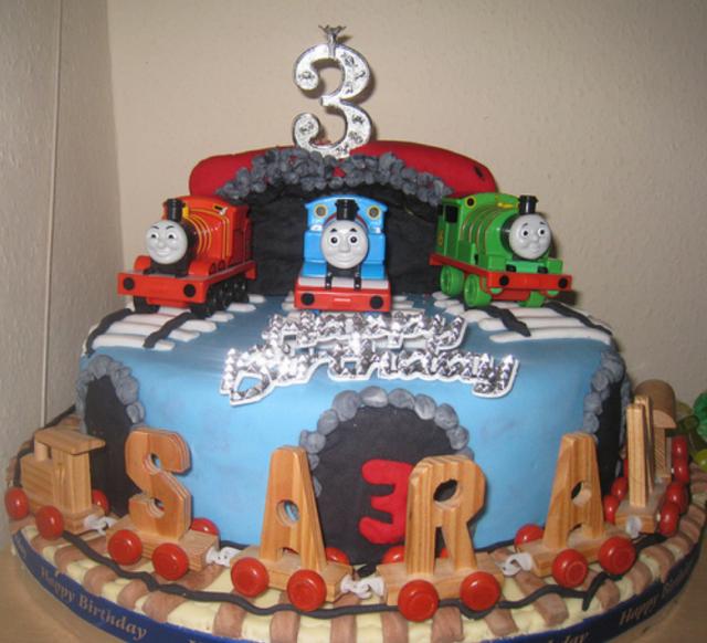 Thomas the train cake ideas with Thomas Percy and James