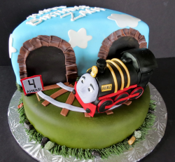 Thomas the train Hero train cake photo.PNG