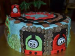 Around Thomas the train cakes images.PNG