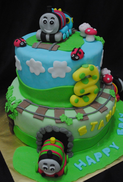 Thomas And Friends Cake For Birthday Png