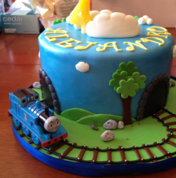 Thomas and friends on train track cake decorations.PNG