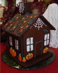 Haunted Gingerbread House in chocolate.JPG