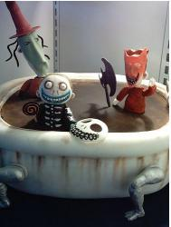 Nightmare Before Christmas cake with scary figures.JPG