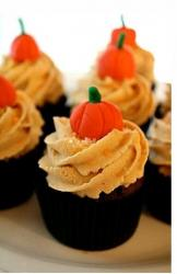 Harry Potter Party cupcakes with pumpkin top.JPG