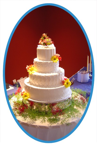 Christian wedding cake