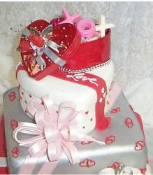 Photo of valentine wedding cake.JPG