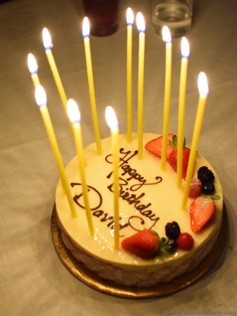 Mango Mousse Birthday Cake With Candles For Davidg Hi Res 1440p Qhd
