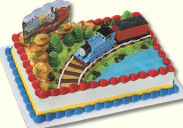 Train Theme Kids Birthday Cakes Picture Of Thomas The On Track Sodor