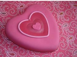 Valentine Hearts Cake in bright pink.JPG