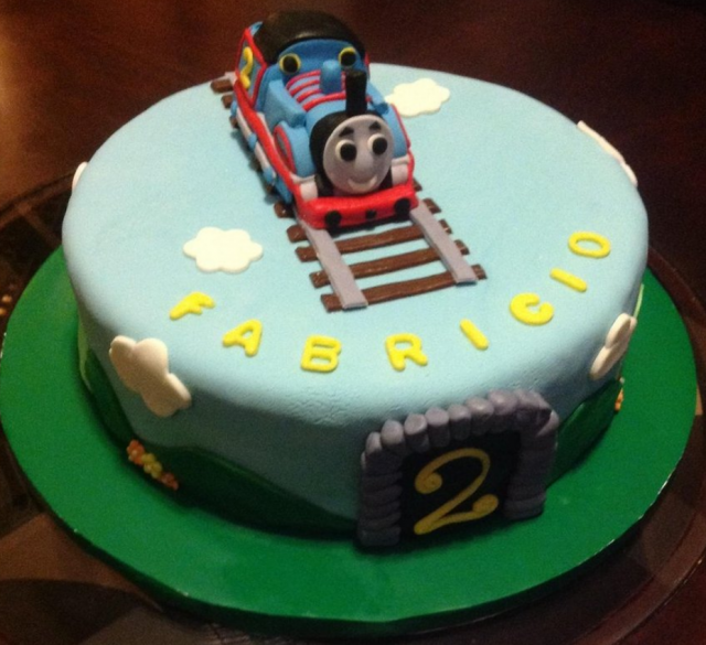 Blue Thomas The Train Cake Topper Pictures Png Hi Res 720p Hd
