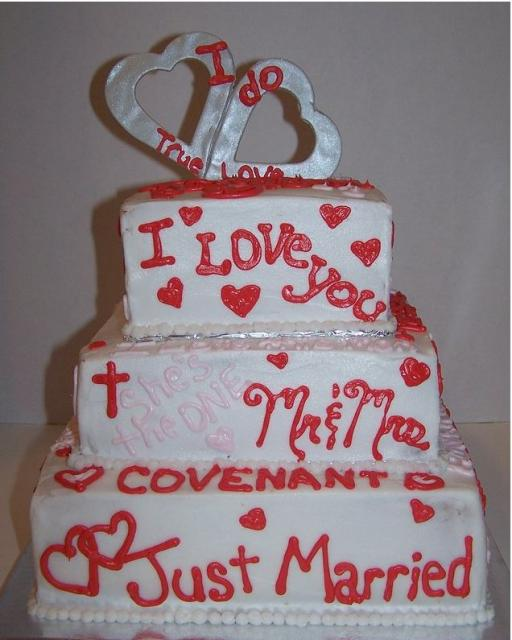 consspecinun: valentines wedding cakes, Ideas