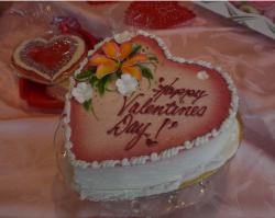 Very pretty heart shaped valentines day cake.JPG