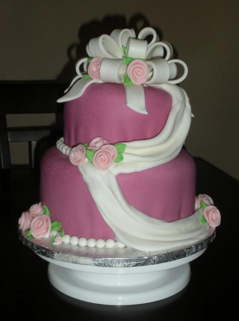 Wedding valentines cake decorating ideas.