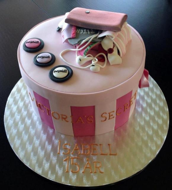 Birthday Cake Gift Images : Victoria s Secret Gift Box Birthday Cake.JPG Hi-Res 720p HD