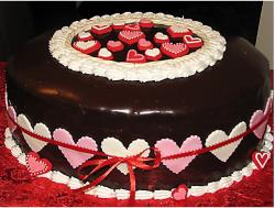 Big chocolate be my valentine cakes.JPG
