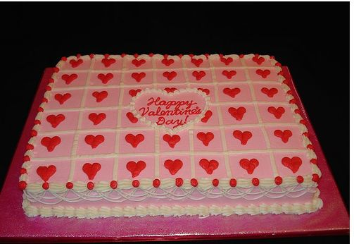 Big valentine cake decorating.JPG