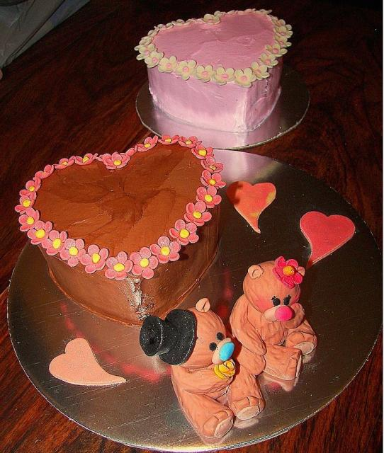 cake decorating ideas for valentines day with teddy bears ...