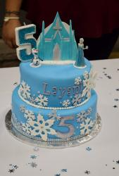 Disney Frozen theme Cake in 2-tiers for 5 year-old Girl.JPG