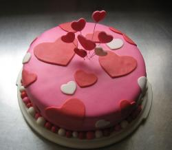 Chic and trendy valentines cake.JPG