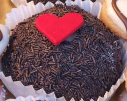 Dark chocolate valentines day cookie cakes.JPG