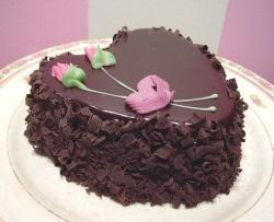 Heart chocolate cake for valentines.JPG