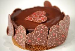 Very chic chocolate valentines cake photo.JPG