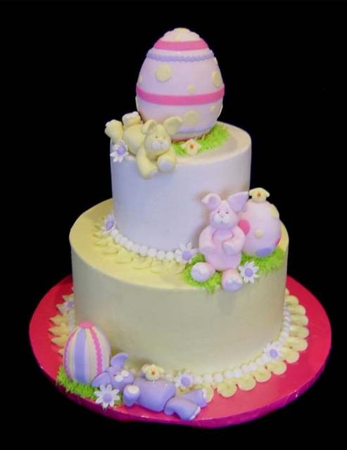 Cake Decorations For Easter : Easter cake designs with eggs and bunnies.JPG
