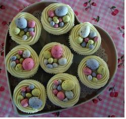easter cakes cupcakes with small egss.JPG