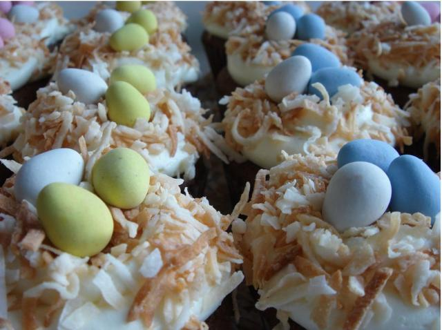 easter cupcakes pictures. Easter cup cakes.JPG