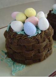 Egg chocolate easter cakes.JPG