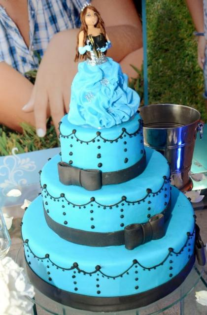 Blue  Tier Th Birthday Cake