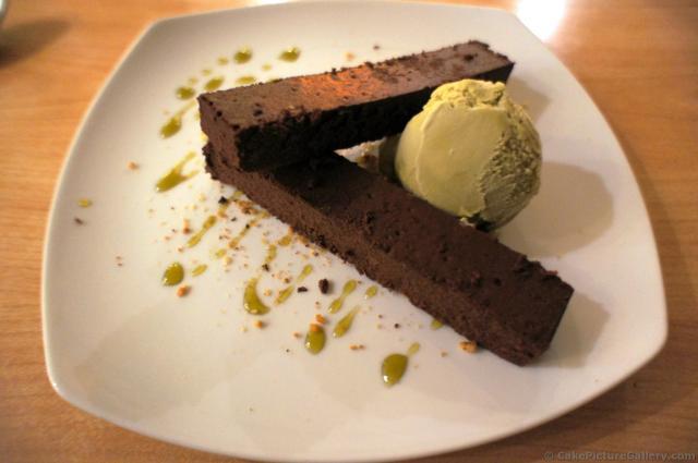 Spiced Chocolate Cake with Matcha Ice Cream from Shogun Restaurant ...