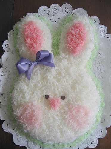 easter bunny cake pictures. coconut easter bunny cake.