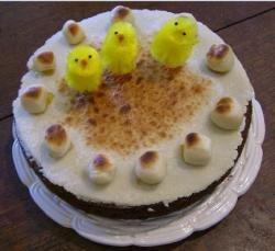 Picture of Italian Easter cake with cute chicks.JPG