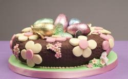 Chocolate easter egg cake.JPG