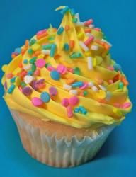 Colorful cup cake for easter.JPG