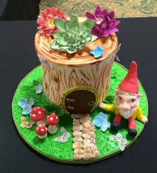 Cool and Fanciful Gnome and Tree Stump Cake.JPG