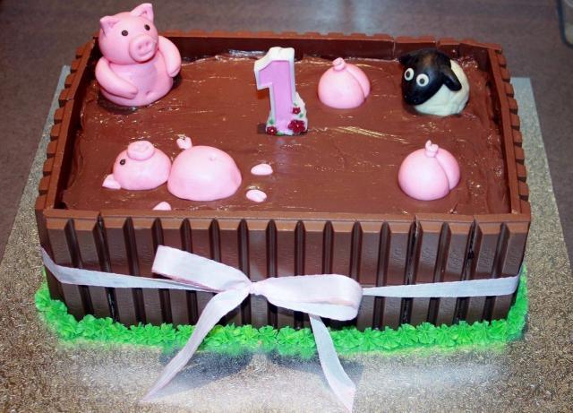 First birthday cake chocolate