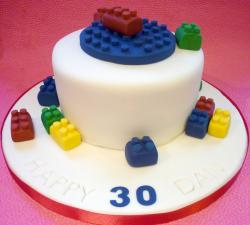 Adult lego birthday cake picture.JPG